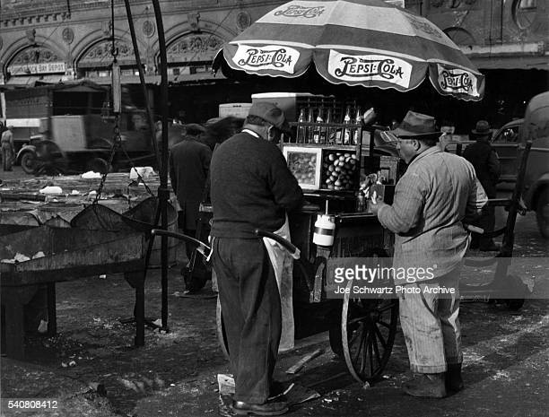 Policeman At Hot Dog Stand Images