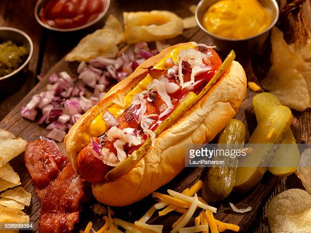 Hot Dog with all the fixings