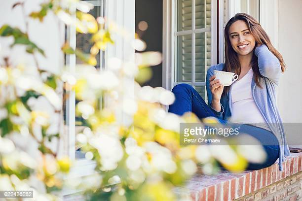 Hot drink and fresh air