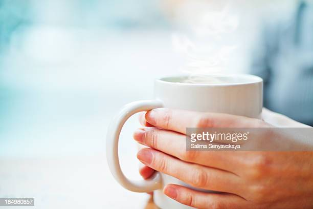 Hot drink in winter