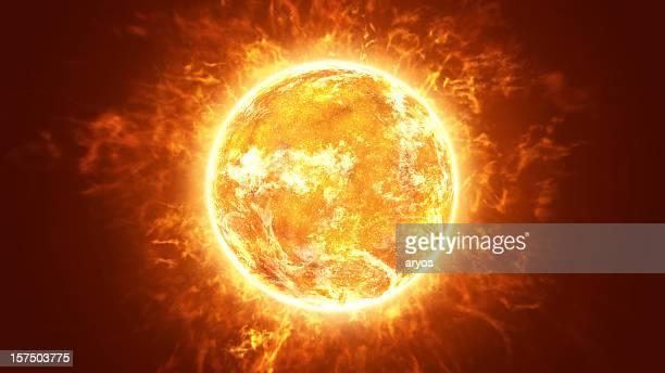 Chaud soleil incandescent
