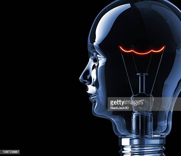 Hot Filament of Light Bulb Head