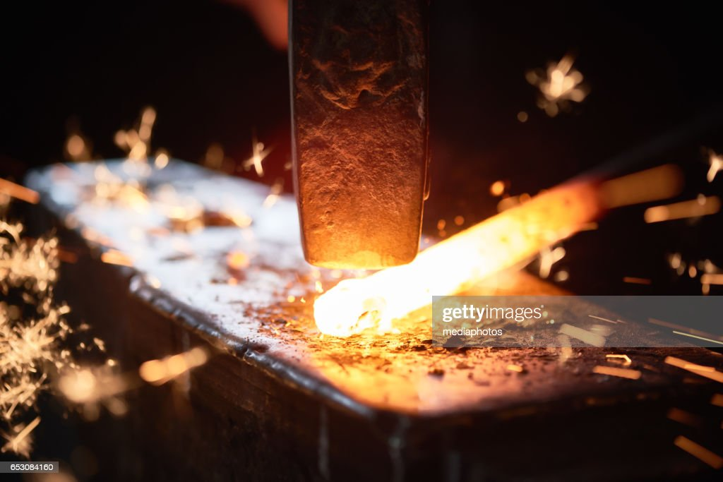 Hot forging : Stock Photo