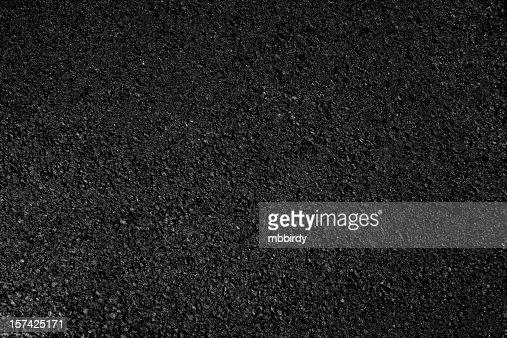 Hot fresh asphalt