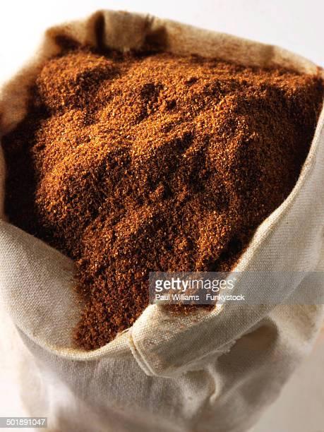 Hot ground paprika powder