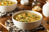 Hot Homemade Corn Chowder in a Bowl