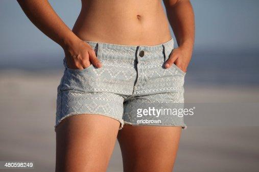 Hot Jean Shorts : Stock Photo