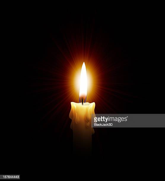 Hot Light Of Candle