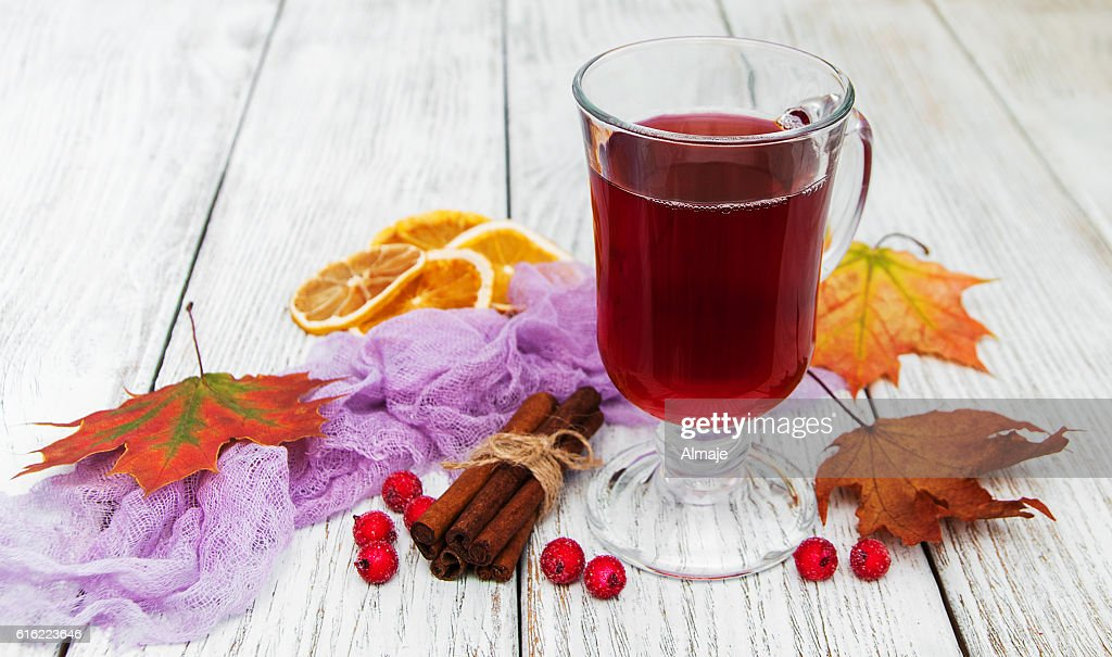 hot mulled wine : Stockfoto
