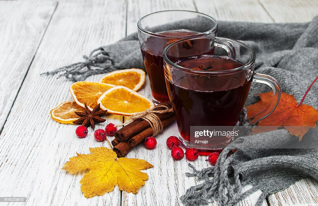 hot mulled wine : Stock Photo