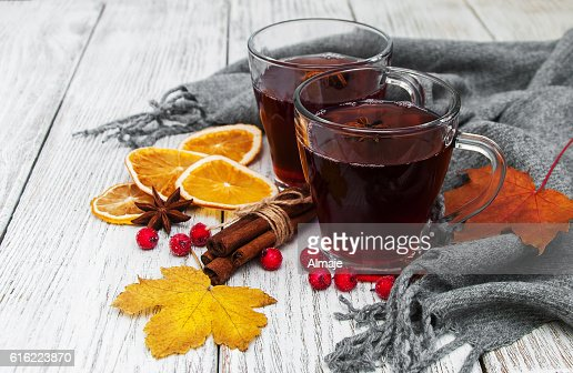 hot mulled wine : Bildbanksbilder