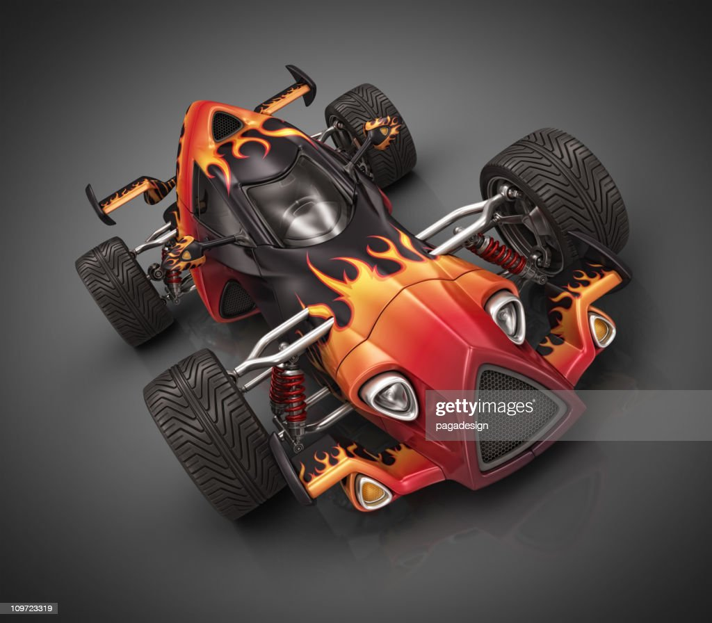 hot racecar : Stock Illustration