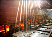 Interior of metallurgical plant workshop