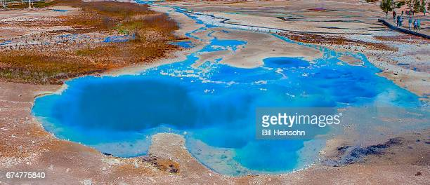 Hot spring and archaea bacteria, Yellowstone National Park, Wyoming