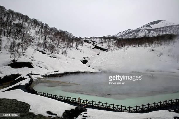 Hot spring pond