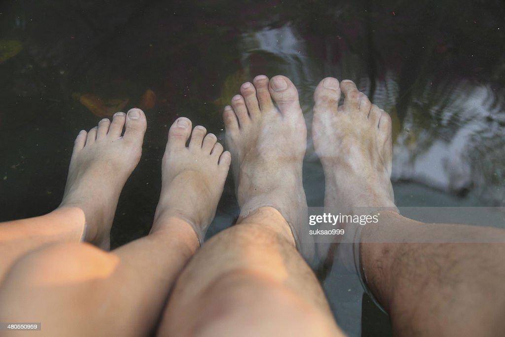 Hot spring relex : Stock Photo