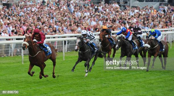 Hot Streak ridden Phillip Makin wins the Read Richard Fahey On sportinglifecom Median Auction Maiden Stakes during the Music Showcase Weekend at York...