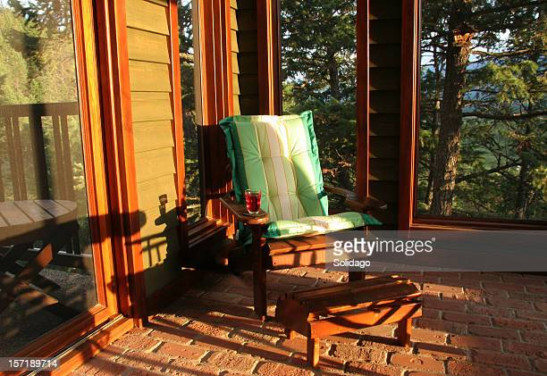 Hot Summer's Evening on The Screened-In Porch