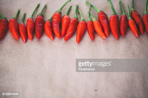 Hot tasty red pepper closeup. : Stock Photo