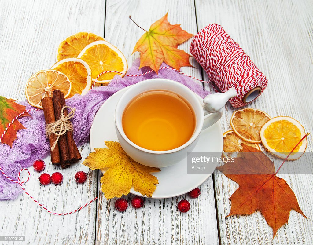 hot tea with spices : Stock Photo