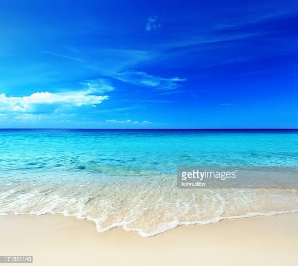 Warmen tropischen Sandstrand-Ocean Shore