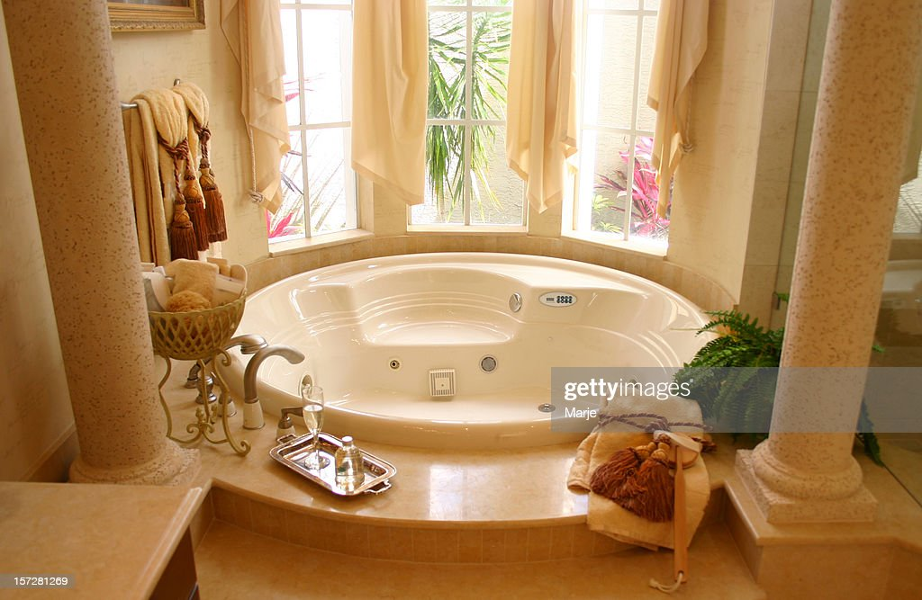 jacuzzi bath. Jacuzzi Bath with Roman Columns  Stock Photo With Getty Images