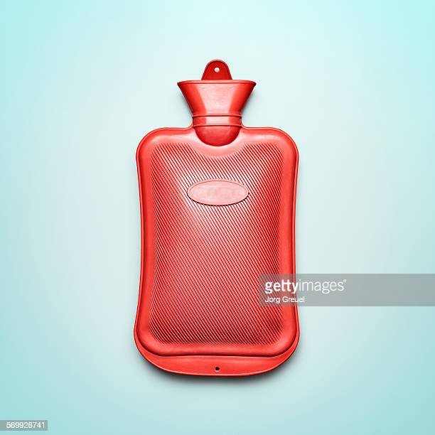 Hot water bottle made from rubber