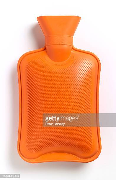 Hot water bottle on white background