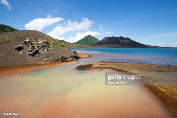 Hot Water Springs near Mount Tavurvur in Rabaul, Papua New Guinea