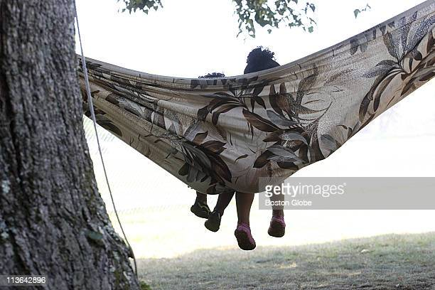 Hot weather descends on the region and people look for ways to stay coolTomas and Yamarie Romero 1 and 3 stay cool on a backyard hammock