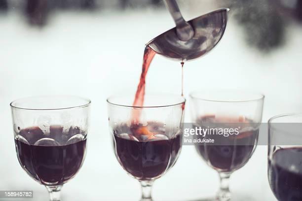 Hot wine outside
