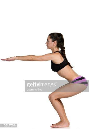 Hot Yoga Awkward pose (Utkatasana)
