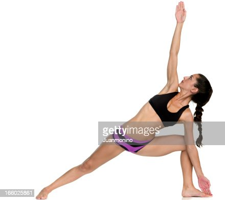 Hot Yoga Pose (Trikanasana)