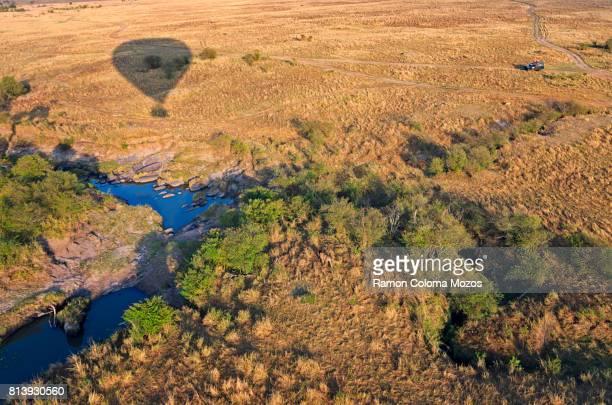 A hot-air ballon ride