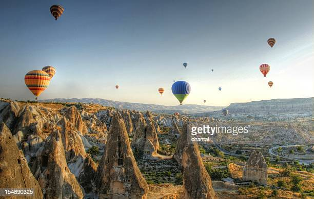 Hot-air balloon above cappadocia