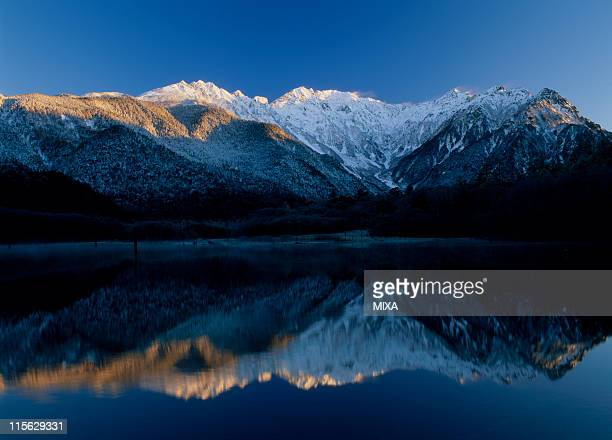 Hotaka Mountains and Lake Taisho, Kamikochi, Matsumoto, Nagano, Japan