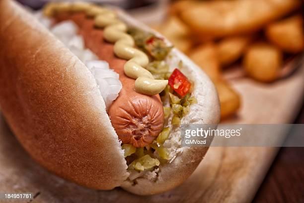 Hotdog y fritas