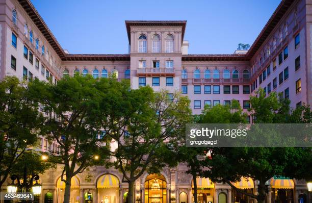 Hotel along Wilshire Boulevard in Beverly Hills, CA