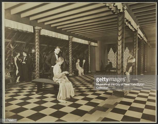 Hotel Astor Broadway 44th Street Interior With Models Roof North Lounge New York New York 1929