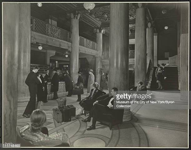 Hotel Astor Broadway 44th Street Interior With Models the Lobby New York New York 1929