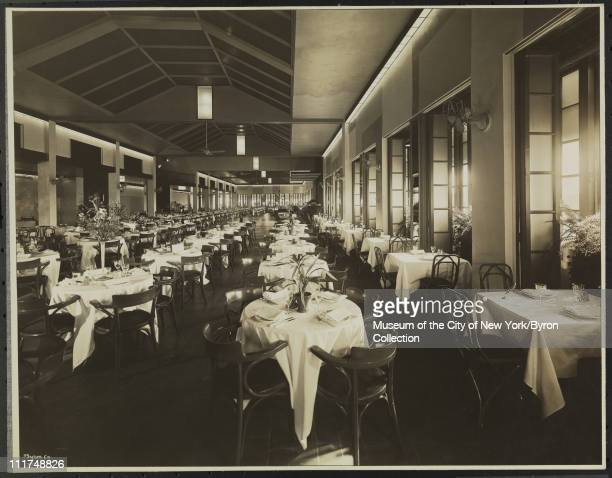 Hotel Astor Broadway 45th Street Interior Roof Restaurant from North End New York New York 1929