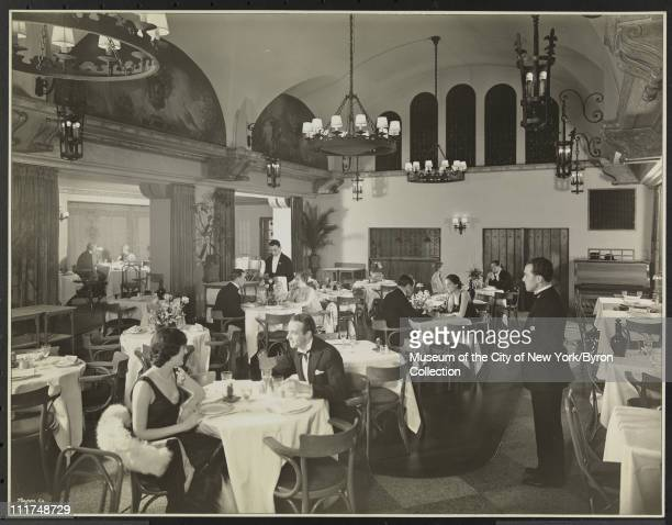 Hotel Astor Broadway 45th Street Interior With Models Orangerie New York New York 1929