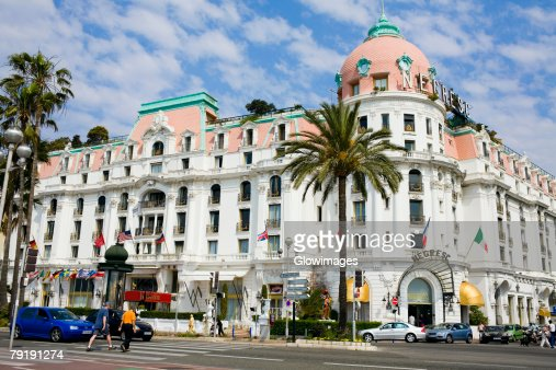 Hotel at a roadside, Hotel Negresco, Promenade des Anglais, Nice, France