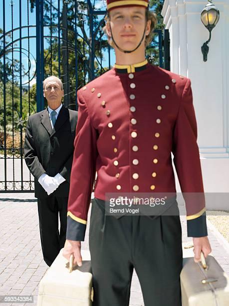 Hotel bellhop and doorman