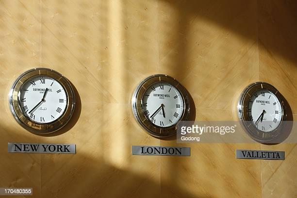 Hotel clocks La Valette Malta
