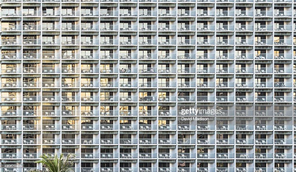 Hotel exterior, Honolulu. : Stock Photo