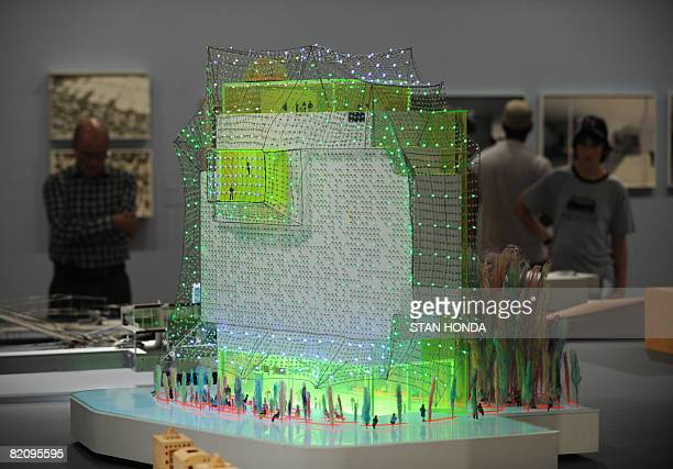 Hotel Habitat L'Hospitalet de Llobregat Barcelona 2004' by architects Cloud 9 Ruy Ohtake and Enric RuizGeli with other models on display July 28 2008...