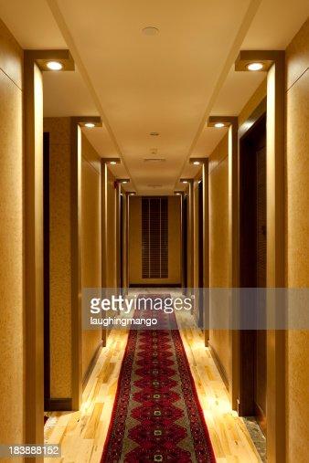 Hotel hallway corridor stock photo getty images for Hotel hallway decor