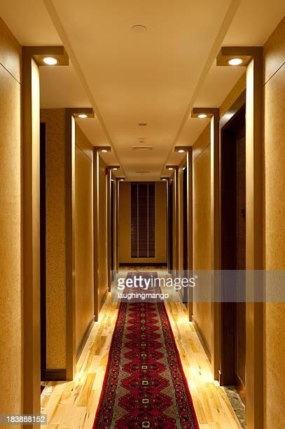 hotel hallway corridor