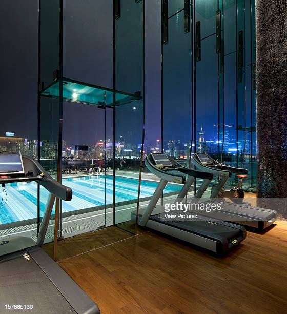 Hotel Icon Gym Outdoor Pool Looking Across To Hong Kong Island Rocco Yim China Architect